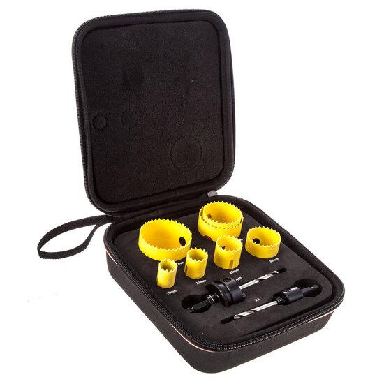 Starrett KFC07021 Fast Cut Plumbers Holesaw Kit 7 Piece