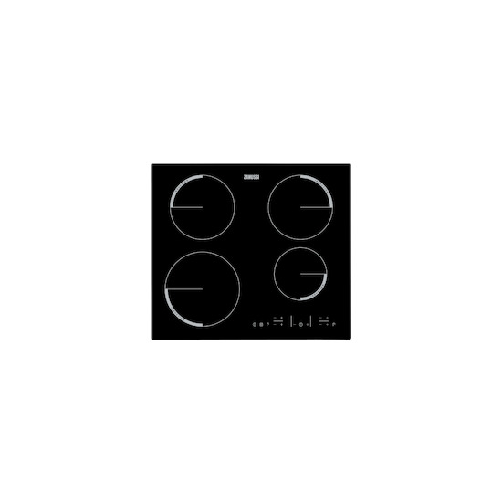 Zanussi ZEL6640FBA Black glass 4 zone induction hob
