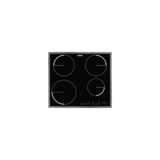 Zanussi ZEL6640XBA Stainless steel 4 zone induction hob