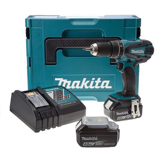 Makita DHP456RMJ Combi Drill 18V Cordless li-ion 2-Speed, Case (2 x 4Ah Batts)