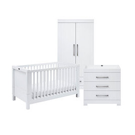 Silver Cross Notting Hill Nursery Furniture Set - White