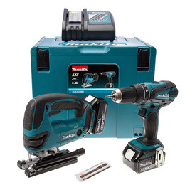 Makita DLX2024MJ 18V DHP456 Combi Drill + DJV180 Jigsaw Twinpack 2 x 4Ah Reviews