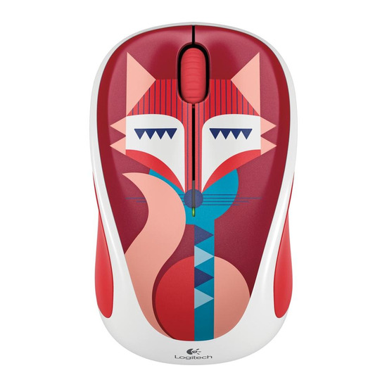 Play M238 Wireless Optical Mouse - Teal Chevron
