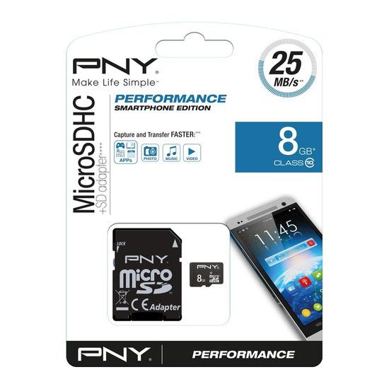 Performance Class 10 microSD Memory Card - 8 GB