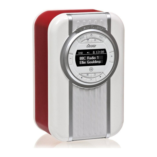 VQ Christie Portable DAB+ Bluetooth Clock Radio - Red