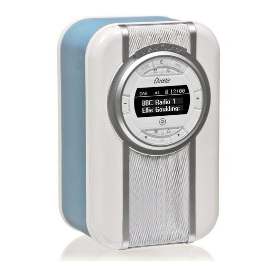 VQ Christie Portable DAB+ Bluetooth Clock Radio - Blue