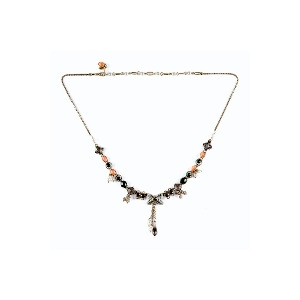 Photo of Pearl & Crystal Bow Necklace Jewellery Woman
