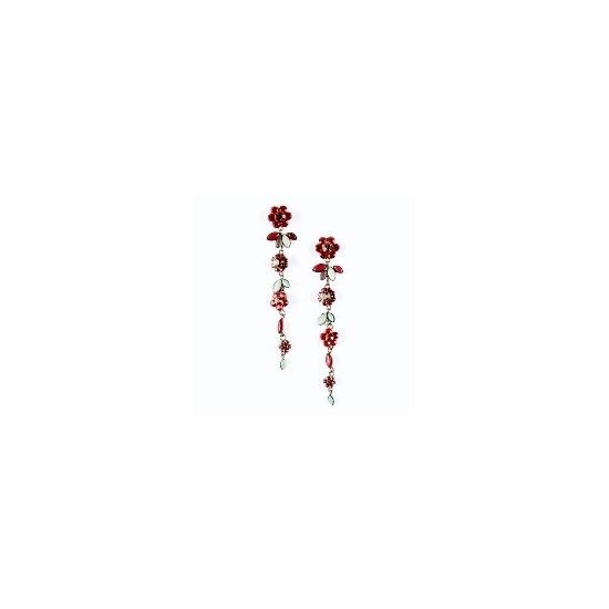 Swarovski crystal long earrings