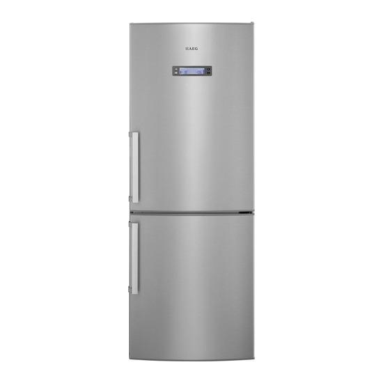 AEG S74011CMX2 Fridge Freezer - Silver