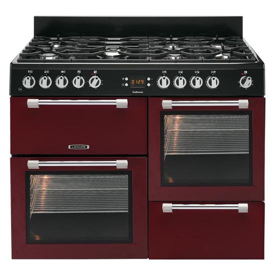 Cookmaster 110 Dual Fuel Range Cooker Red