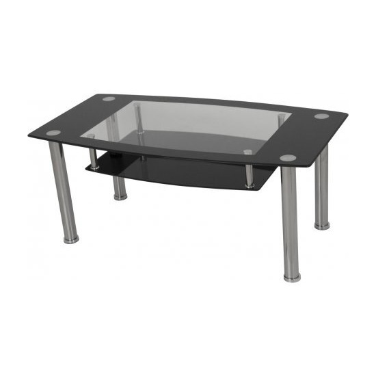 AVF T12 Glass Coffee Table - Black