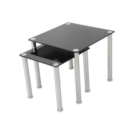 AVF T32 Glass 2 Nesting Tables - Black