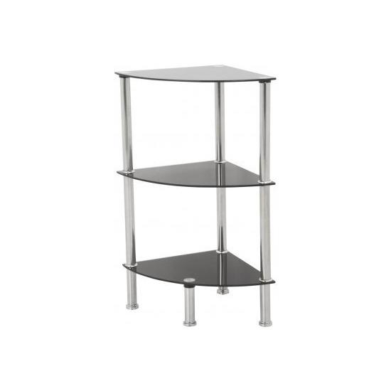 AVF S53 3 Shelf Corner Unit - Black