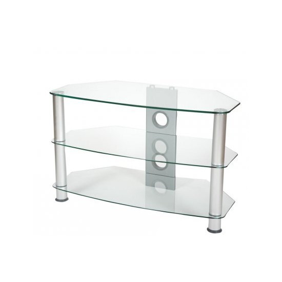ValuFurniture Brisa 600mm Clear Glass TV Stand for up to 32