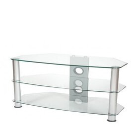 ValuFurniture Brisa 1000mm Clear Glass TV Stand for up to 50 Reviews