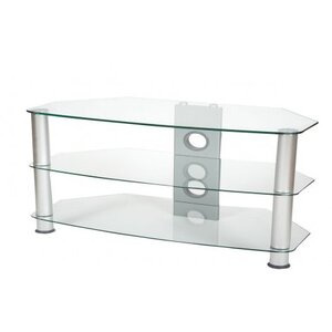 Photo of ValuFurniture Brisa 1000MM Clear Glass TV Stand For Up To 50 TV Stands and Mount