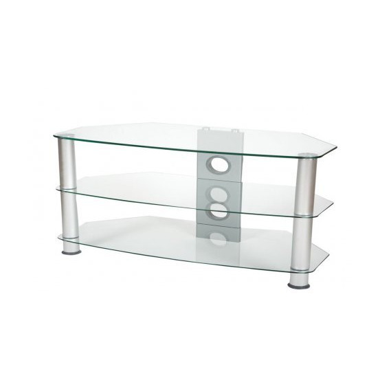 ValuFurniture Brisa 1000mm Clear Glass TV Stand for up to 50
