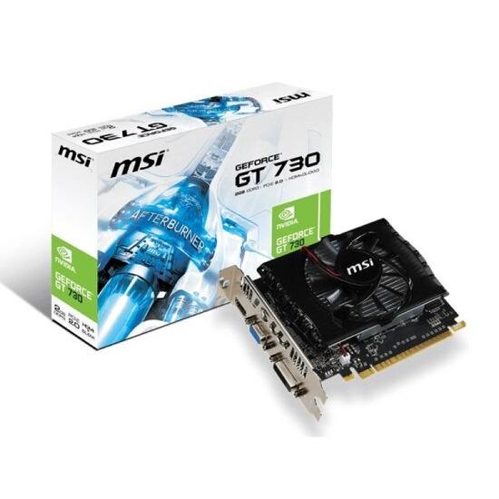 MSI NVIDIA GeForce GT 730 2GB DDR3 VGA DVI HDMI 2x Displayport PCI-E Graphics Card