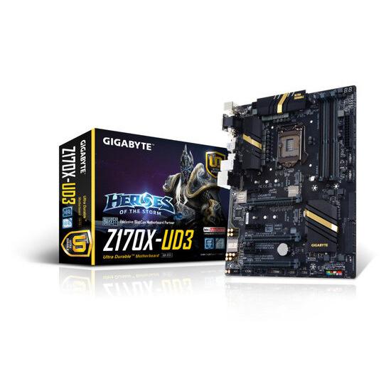 Gigabyte GA-Z170X-UD3 Socket LGA1151 HDMI 7.1 Channel Audio ATX Motherboard