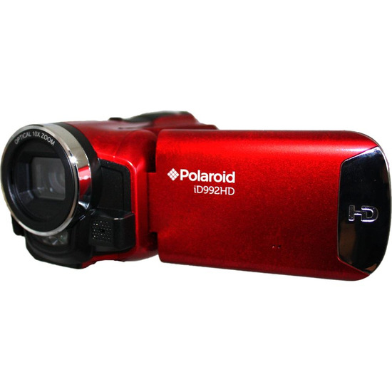 Polaroid iD992 Traditional Camcorder - Red