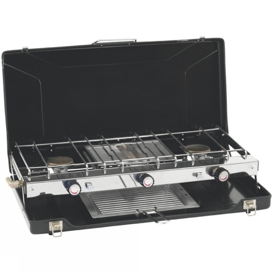 Appetizer Cooker 3-Burner Stove with Grill