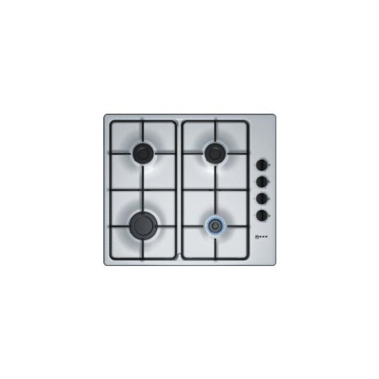 Neff T26BR48N0 58cm Four Burner Gas Hob Stainless Steel