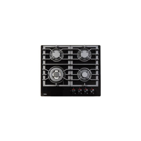 Amica PHCZ6511 4 Burner Gas On Glass - Black