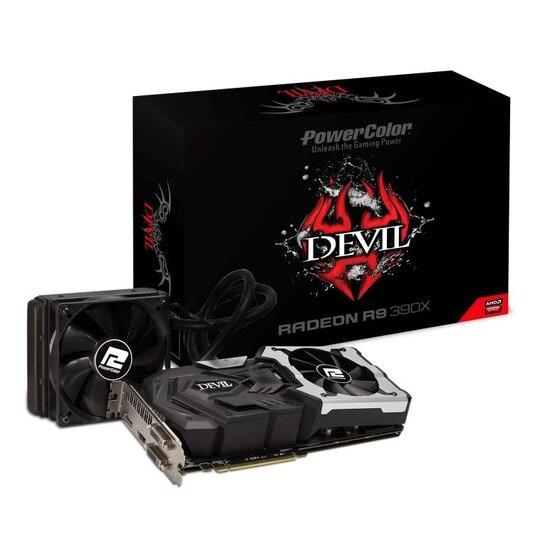 Powercolor DEVIL R9 390X 8GB GDDR5 Dual-link DVI-D HDMI DisplayPort PCI-E Graphics card