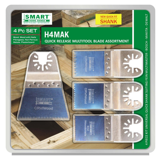 Smart H4MAK Multi Tool Blade Set of 4 with Quick Release