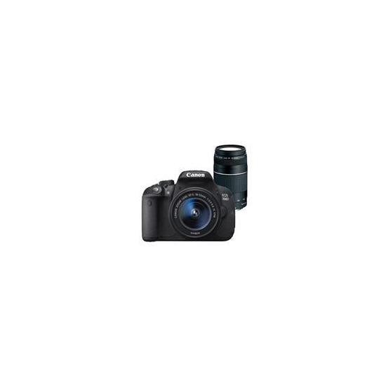 EOS 700D Digital SLR + 18-55mm IS STM Lens + 75-300mm DC III Lens