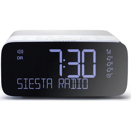 PURE Siesta Rise VL-62853 DAB+/FM Clock Radio - White & Grey