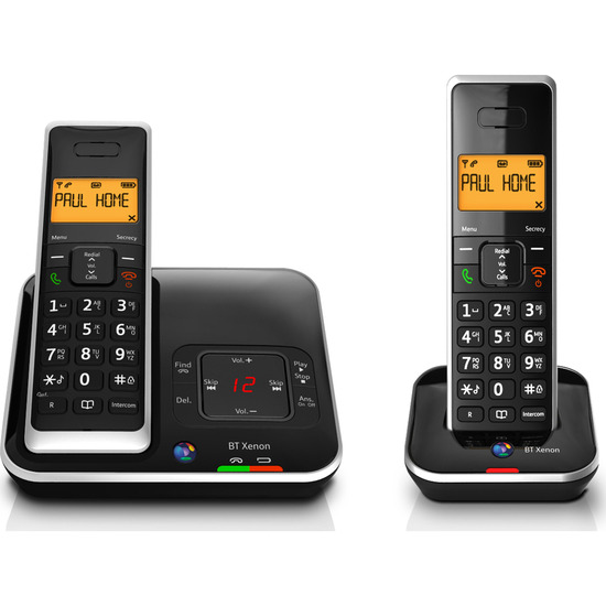 BT Xenon 1500 Cordless Phone with Answering Machine - Twin Handsets