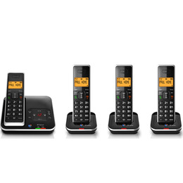 BT Xenon 1500 Cordless Phone with Answering Machine - Quad Handsets Reviews