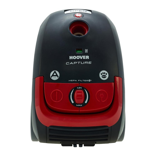 Hoover Capture CP70CP11001 Cylinder Vacuum Cleaner - Black & Red