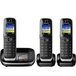 Panasonic KX-TGJ323EB Cordless Phone with Answering Machine - Triple Handset Reviews