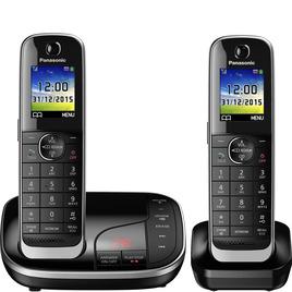 Panasonic KX-TKJ322EB Cordless Phone with Answering Machine - Twin Handsets Reviews