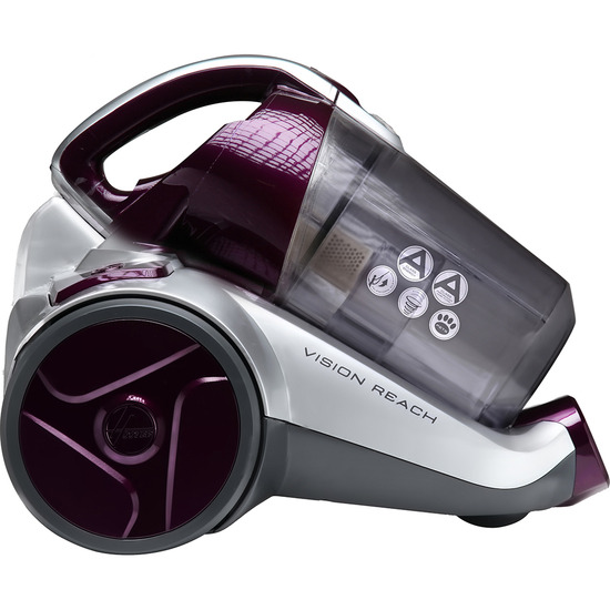 Hoover Vision Reach BF70VS01 Cylinder Bagless Vacuum Cleaner - Purple & Silver