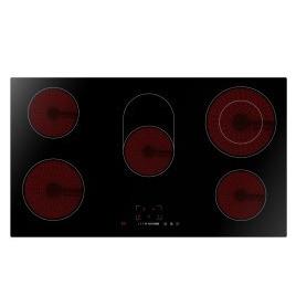 ElectriQ (EIQEH90CERAMIC) 90cm 5 Zone Ceramic Bevelled Edge Schott Glass Hob Reviews