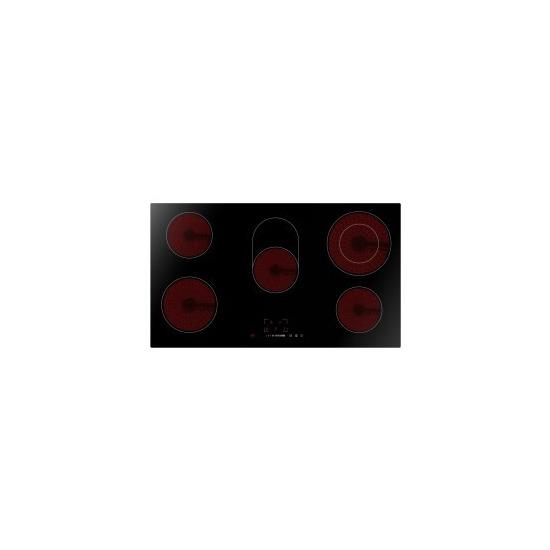 ElectriQ (EIQEH90CERAMIC) 90cm 5 Zone Ceramic Bevelled Edge Schott Glass Hob