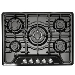 NordMende HGW703BL Black 70cm Gas Hob with Central Wok Burner Front Control Reviews