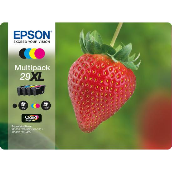 Stawberry 29 XL Cyan, Magenta, Yellow & Black Ink Cartridges - Multipack