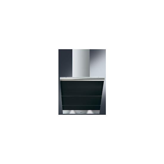 SMEG Linea KTS75NCE Chimney Cooker Hood - Stainless Steel & Black Glass
