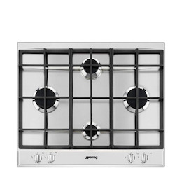 SMEG P260XGH Stainless steel 4 burner gas hob Reviews