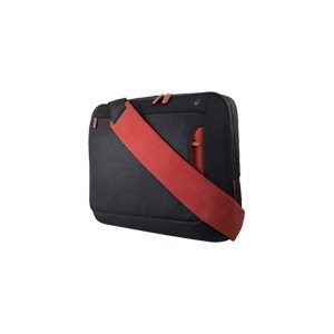 "Photo of Belkin Messenger Bag For Notebooks Up To 15.4'"" - Notebook Carrying Case - Jet, Cabernet Laptop Bag"
