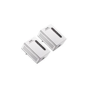 Photo of ZyXEL PLA-401 Twin Pack - Bridge - EN, Fast EN, HPAV Wireless Card