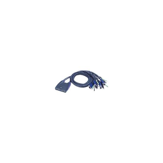 ATEN Petite CS-64U - KVM / audio / USB switch - 4 ports - 1 local user