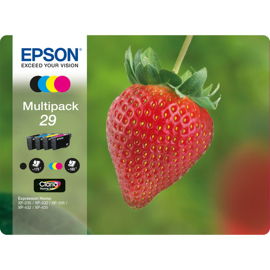 Strawberry 29 Cyan, Magenta, Yellow & Black Ink Cartridges - Multipack