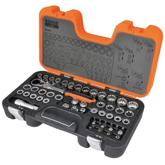 Bahco S530T 53 Piece Pass-Through Socket Set