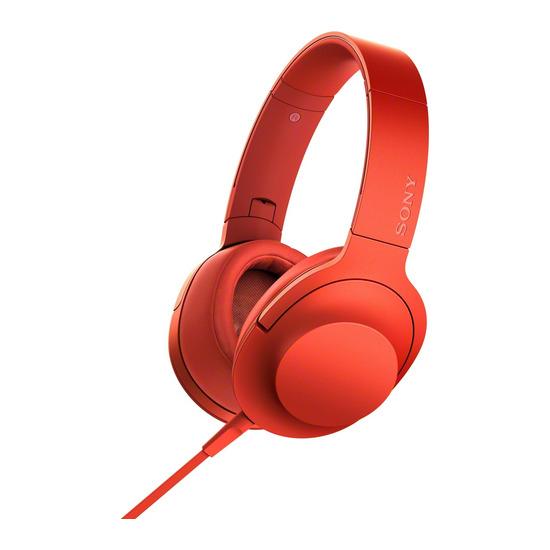 h.ear on MDR-100AAPR Headphones - Red