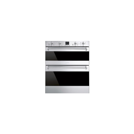 Smeg DUSF636X Dark glass/stainless steel Built under electric double oven